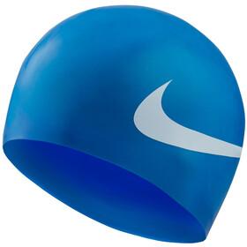 Nike Swim Big Swoosh Printed Silicon Cap game royal
